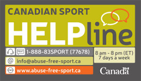 THE CANADIAN SPORT HELPLINE